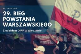 Warszawa Wydarzenie Bieg 29. Bieg Powstania Warszawskiego