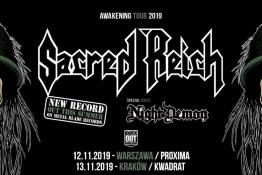 Warszawa Wydarzenie Koncert Sacred Reich + Night Demon / 12 XI / Warszawa